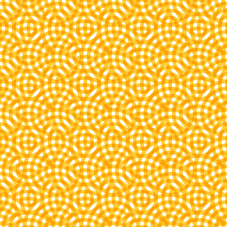 zen garden: Abstract Yellow Seamless Pattern with Round Circles. Vector Endless Background. Illustration
