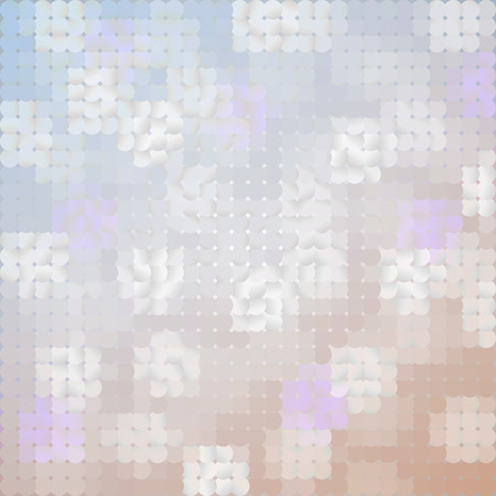 pearl background: Abstract Blurred Pearl Background. Vector Geometric Shiny Patchwork. Mosaic Light Illustration. Illustration