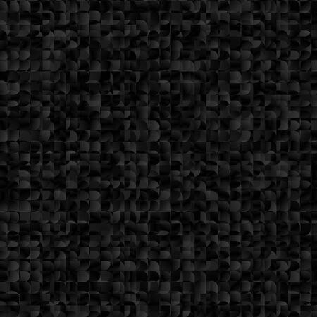 Black Squares Mosaic Geometric Abstract Background. Gray Marble Texture Illustration.  イラスト・ベクター素材