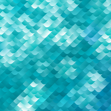 dynamic background: Blue and White Dynamic Background. Vector Mosaic Texture. Abctract Geometric Wallpaper