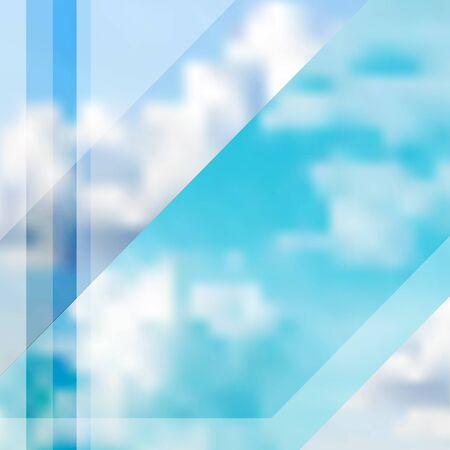 stipes: Abstract Cloudy Sky Illustration. Vector Blurred Realistic Background.
