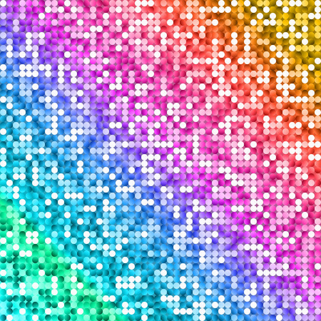 Glow Rainbow Colored Shiny Background. Vector Colorful Vibrant Texture for Disco Party.