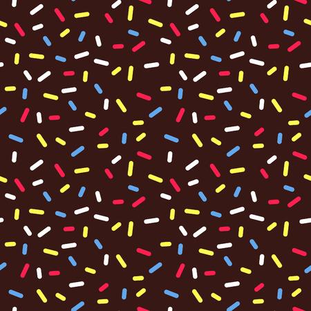 Chocolate Cake Decoration Background. Donut Glaze Seamless Pattern.