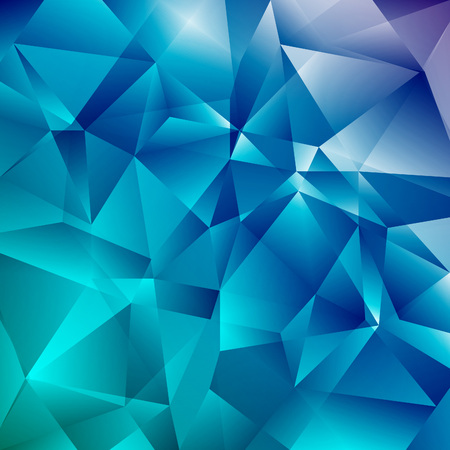 Abstract Faceted Geometric Shiny Background. Vector Blue  Diamond. Sparcling Beautiful Backdrop with Triangles.