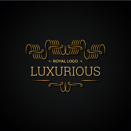 luxurious: Gold Luxurious Clligraphic Logo for Businesses and Product Names, Luxury Industry Like Hotel, Wedding and Real Estate. Illustration