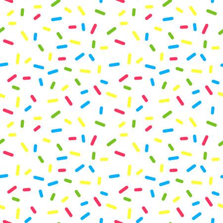 カラフルなドーナツは釉振りかけるトッピングでシームレスなパターンです。ベクトル ベーカリーのテクスチャです。抽象的なフードの装飾。 写真素材 - 44501644