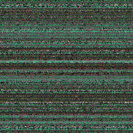 Black, White, Green and Gray Striped Abstract Background. Vector TV Interference. VHS Glitch Texture. Ilustração