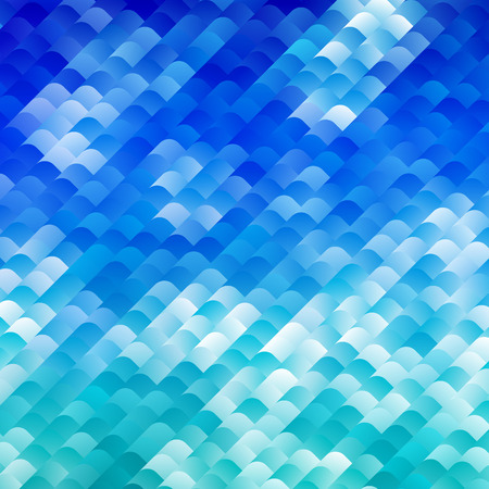 sea water: Bright Blue Sea Waves Mosaic. Abstract Indigo Vector Background. Lazuri Water Illustration.