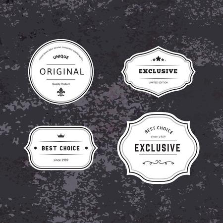 etiqueta: Conjunto de Hipster etiquetas con Marcos. Auténtico Vector retro Etiquetas Diseño. Minimalistas del arte Insignias cerveza. Vectores