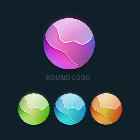 earth logo: Set of Colorful Round Business Logo. Abstract Orb Corporate Symbols. Vector Sphere Icons. Illustration