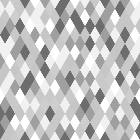 Monochrome Geometric Seamless Pattern. Black, White and Gray Background. Abstract Vector Illustration.
