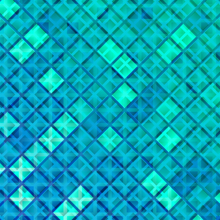 winter wallpaper: Blue Ice Dynamic Background. Vector Mosaic Texture. Abstract Winter Geometric Wallpaper.