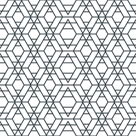 grid texture: Vector Modern Seamless Pattern. Abstract Grid Texture. Repeating Geometric Tiles with Hexagonal Elements. Illustration