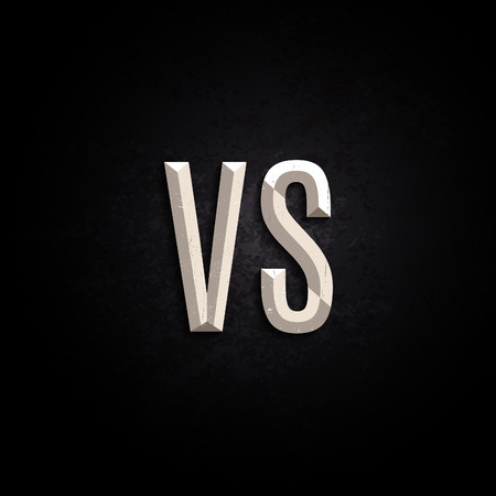 versus: VS Competition Letters. Versus Posters Headline Design. Vector Fight Banner. Illustration