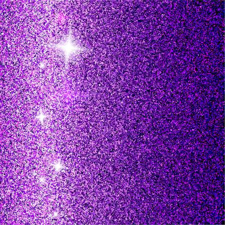 Shiny tinsel violet glamorous background. Vector illustration
