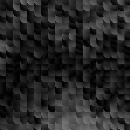 黒大理石の抽象的な背景。ベクトルのモザイク パターン。ランダムな幾何学的な小ガモの図形です。