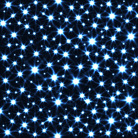 radiant light: Sparkling Stars in Dark Vector Background. Abstract Magic Texture. Illustration