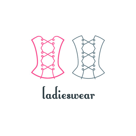 the womanly: Corset Logo Design.