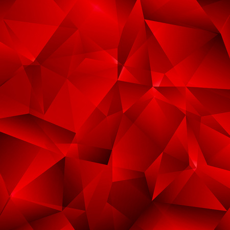ruby: Red Vector Background with Triangles Shapes.