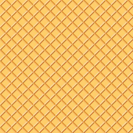 wafer: Light Waffle Texture. Food Background. Ice Cream Wafer Cone Illustration. Illustration