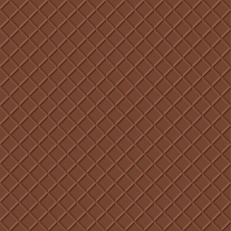 crispy: Chocolate Waffle Background. Crispy Snack Illustration. Realistic Food Seamless Pattern. Ice Cream Cone Texture. Illustration