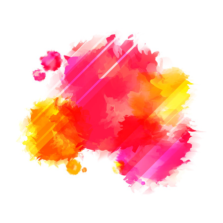 Rosso brillante e spruzzi di vernice gialle. Indiano Sfondo Holi Festival. Vettoriali