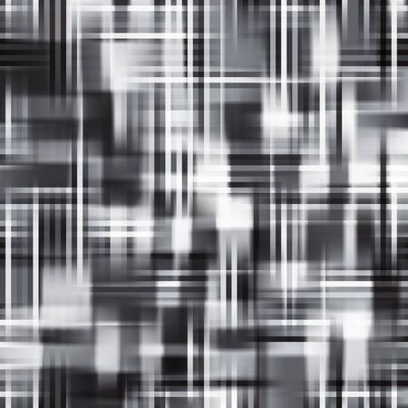 black lines: Abstract Monochrome Checkered Background. Shiny Texture with Random Lines.