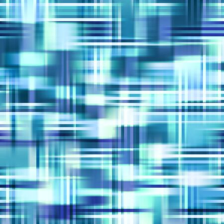 glare: Blue Abstract Checkered Background.  Texture with Stripes and Glare.