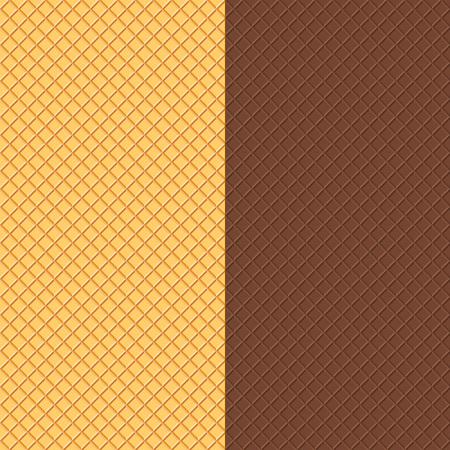 cookies and cream: Waffles Seamless Patterns. Food Background. Crispy Wafers Texture.