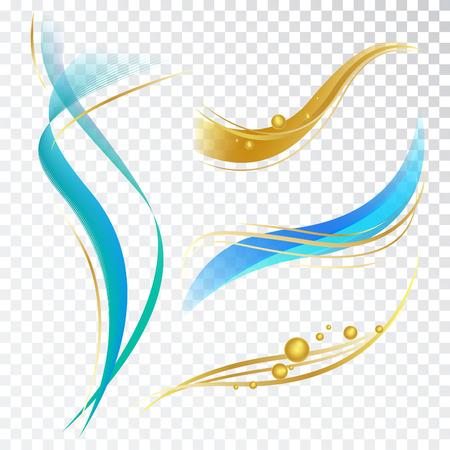 Léments de conception abstraite avec des vagues et des bulles. Vector Décorations pour Dentifrice, Cosmétique et Shampoo Package. Banque d'images - 57683569