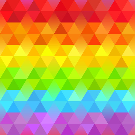 color spectrum: Beautiful Bright Geometric Background  with Rainbow Stripes. Vector Faceted Pattern. Vibrant Spectrum Polygonal Texture.