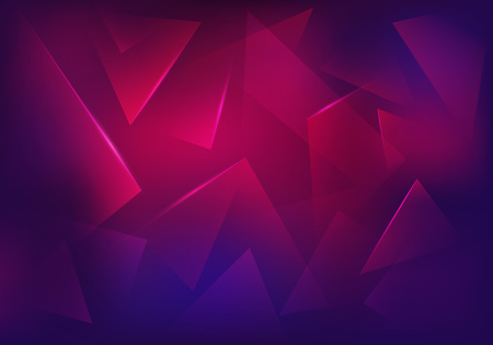 Vector Broken Glass Purple Background. Explosion, Destruction Cracked Surface Illustration. Abstract 3d Bg for Night Party Posters, Banners or Advertisements.  イラスト・ベクター素材