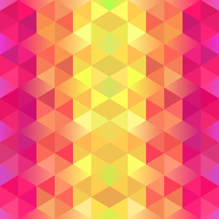 bg: Vertical Gradient Geometric Background. Colorful Pattern with Triangles. Vector Decoration Element. Bright Ethnic Motifs
