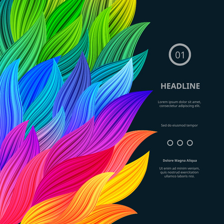 Awesome Bright Colorful Borders. Vector Gradient Background. Vibrant Rainbow Splash. Abstract Texture for Posters, Cards, Screen Wallpapers etc.