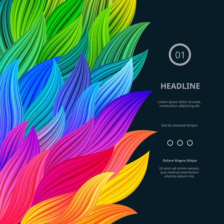 Impressionnant frontières lumineuses et colorées. Vector Gradient Background. Vibrant de Rainbow Splash. Abstract Texture d'affiches, cartes Fonds d'écran, etc. Banque d'images - 57682469