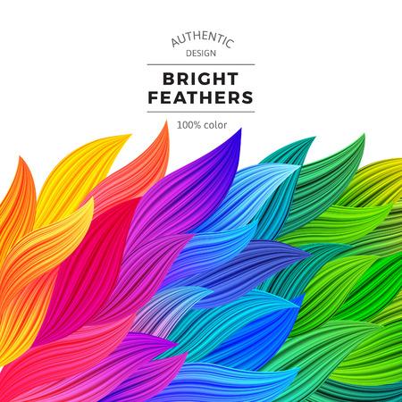 Colorful Waves Vector. Belle arc-en-frontières. Fond dégradé. Illustration Multicolor été. Modèle Concept graphique moderne. Banque d'images - 57682470