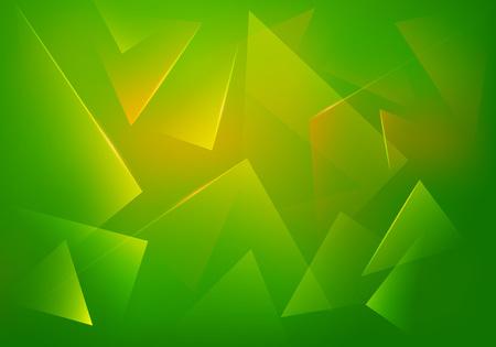 Grüne Explosion Illustration. Vector Abstract Background. Broken Glass Textur. Abstract 3d Bg für Night Party Poster, Banner oder Werbung.