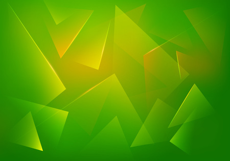 Green Explosion Illustration. Vector Abstract Background. Broken Glass Texture. Abstract 3d Bg for Night Party Posters, Banners or Advertisements.