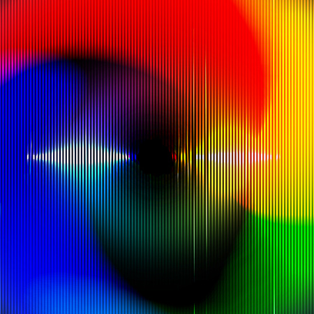 glitch: Vector Abstract Background for Night Party Posters, Musician Banners or Covers. Colorful Circle Glitch Pattern.
