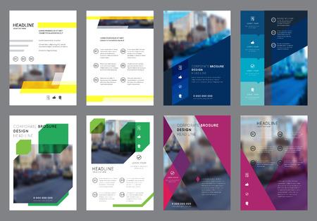 Vector Colorful Template Design Flyers. Vertical géométriques Layout Brochure Concepts. Dépliant Cover Présentation. Résumé Contexte plat. Banque d'images - 57683758
