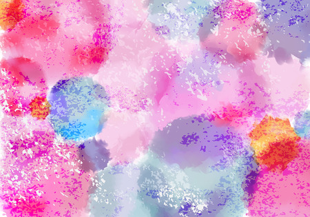 Bright Pastel Colored Bg with Watercolor Paint Splashes. Vector Grunge Paint Background Concept for Holi Festival