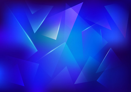 Broken Glass Blue Background. Frozen Ice Texture. Explosion, Destruction Cracked Surface Illustration.