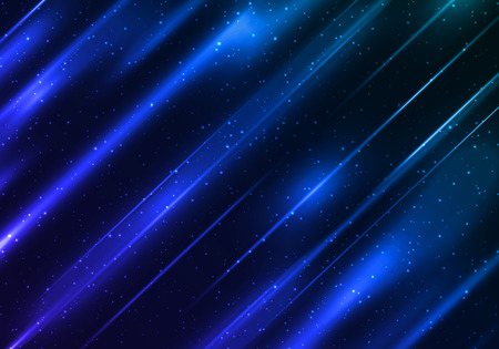 Abstract Blue Background with Shiny Stripes. Vector Modern Bg.