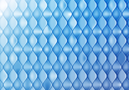 Abstract Blue Background with Gloss and Sleek Scale. Vector Tile Pattern. Pearl Sequins Texture
