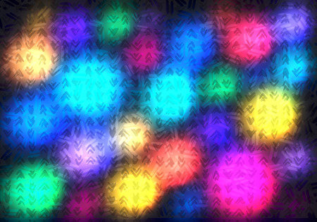 Abstract Vibrant Background with Colorful Lights. Vector Textured Illustration. Bg Design Concept for Holidays and Party Banners and Posters