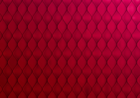 Abstract Red Background with Capitone Texture. Vector Minimalistic Bg Design
