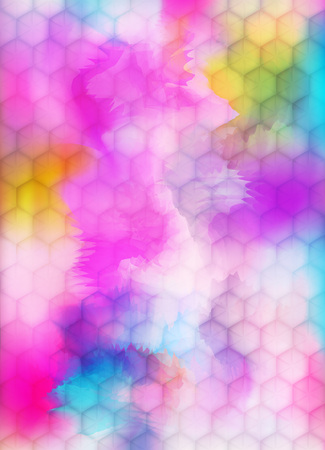 Indian Holi Festival Vertical Banner. Vector Abstract Background with Colorful Powder Paint Splashes Illustration