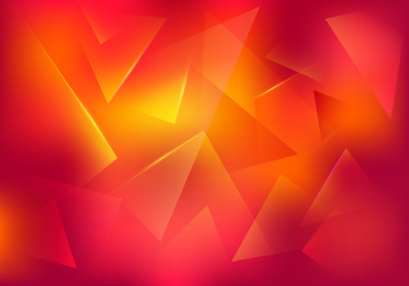 Broken Glass Red and Yellow Background. Abstract Bg for Dj Party Posters, Banners or Advertisements.