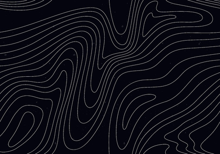 Black Background with White Stripes. Seamless Pattern with Optical Illusion.