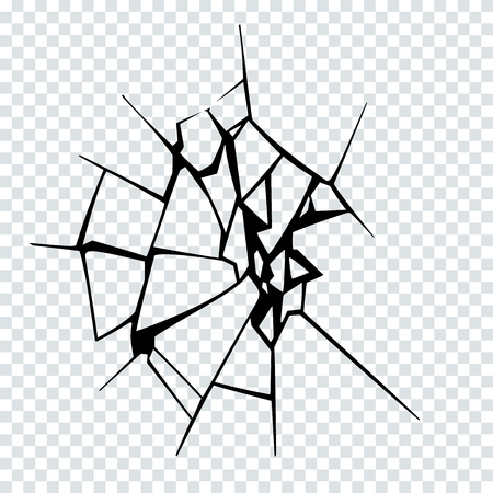 Vector Illustration of Broken Surface. Crack Silhouette